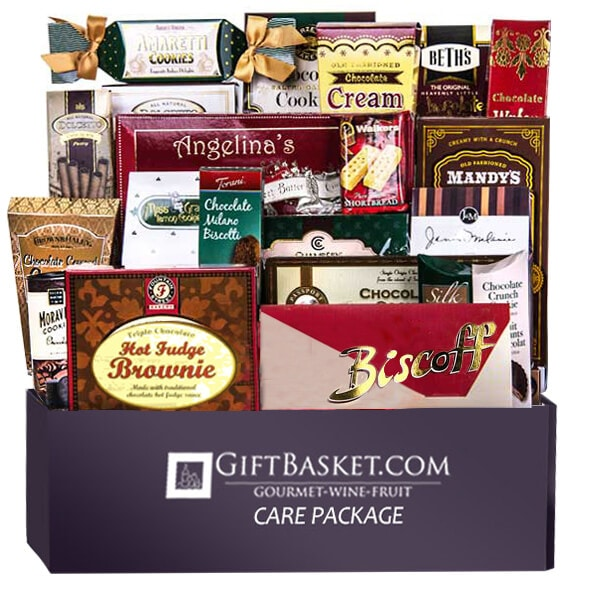 Care Package Deluxe Cookie Basket - GiftBasket.com - Care Package