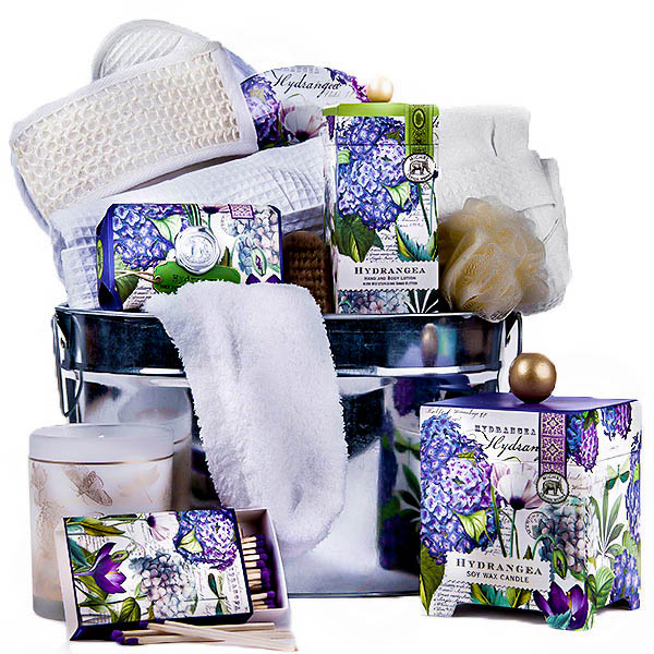 The Hydrangea Spa Basket