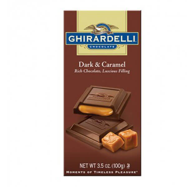 Ghirardelli Dark and Caramel Filled Bar