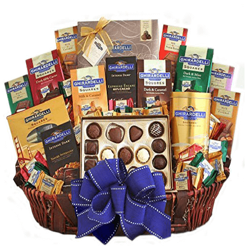 The Chocoholic Ultimate Chocolate Gift Basket