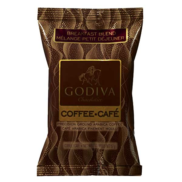 Godiva coffee breakfast