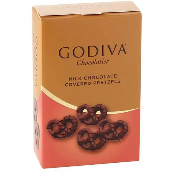 2.5 oz – Godiva Mini Pretzels – Milk Chocolate