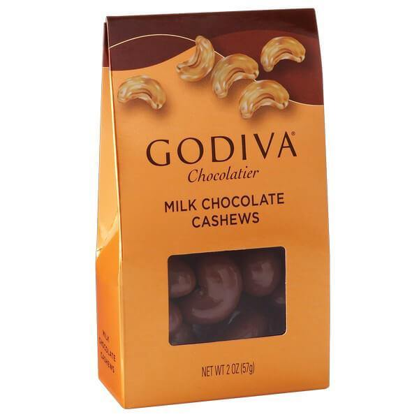 2 oz. – Godiva Milk Chocolate Cashews