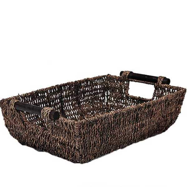 Seagrass Rectangle Basket - GiftBasket.com