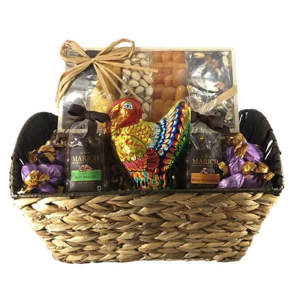 Gourmet Thanksgiving Chocolate & Nut Basket