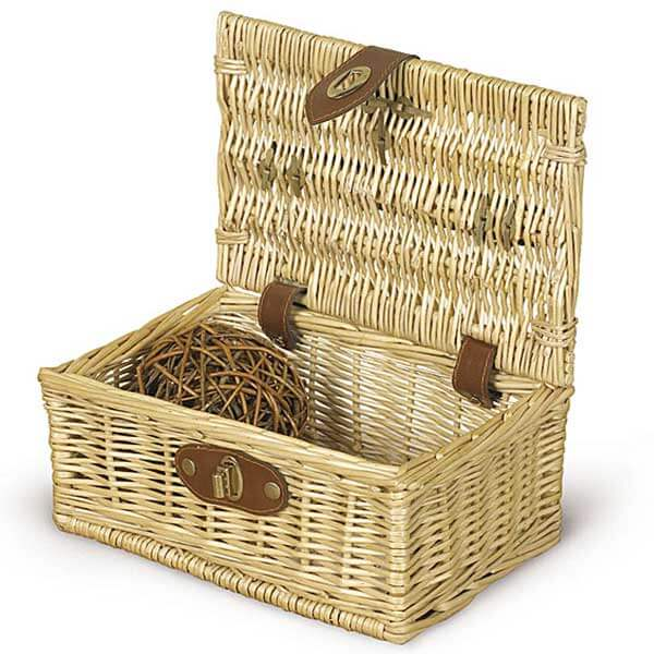Beautiful Wicker Leather Basket