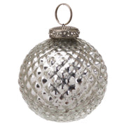 Silver Textured Bauble | The Noel Collection
