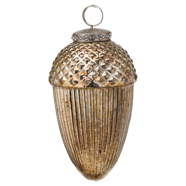 Burnished Hanging Acorn Bauble | The Noel Collection