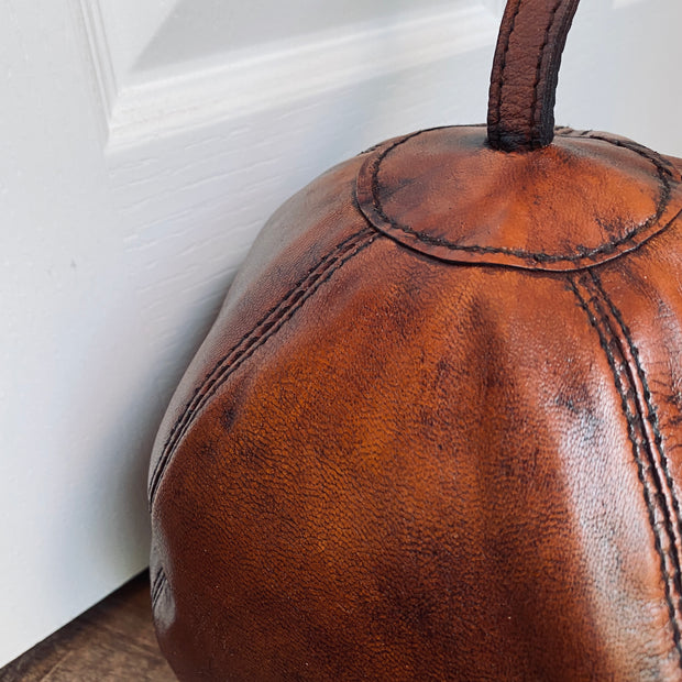 Leather Doorstop