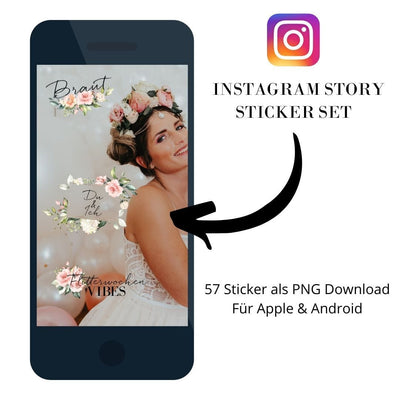 Instagram Story Sticker Set Blütenzauber