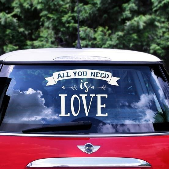 Autoaufkleber All you need is love - Ja-Hochzeitsshop