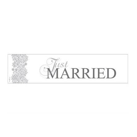 "Schild ""Just Married"" elegant - silber"