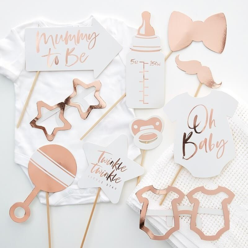 Baby Shower Photo Booth rosegold - Ja-Hochzeitsshop