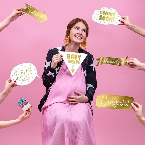 Gender Reveal Photo Booth gold - Ja-Hochzeitsshop