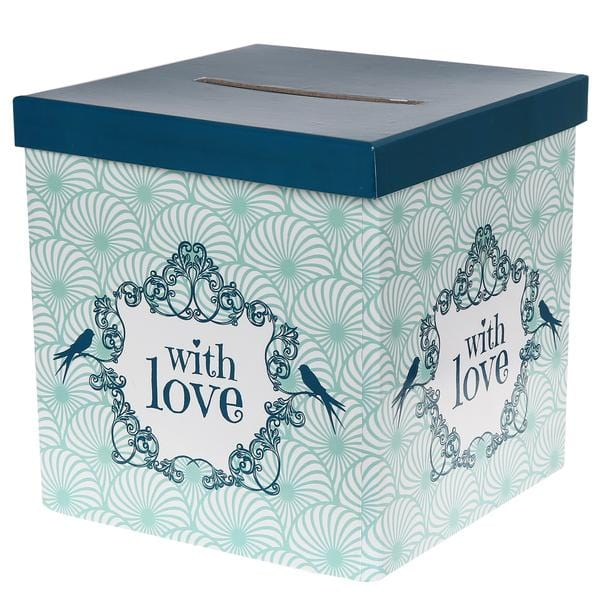 "Briefbox Vintage ""with Love"" - mint - Ja-Hochzeitsshop"