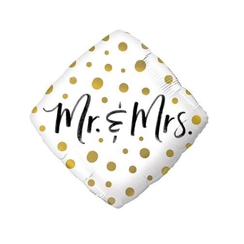 "Folienballon Gold Dots ""Mr. & Mrs."" - Ja-Hochzeitsshop"