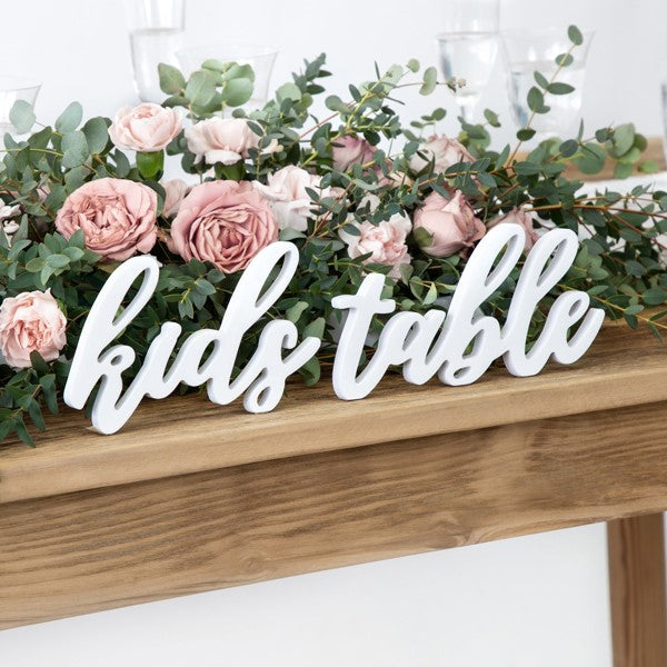 Holz Aufsteller kids table