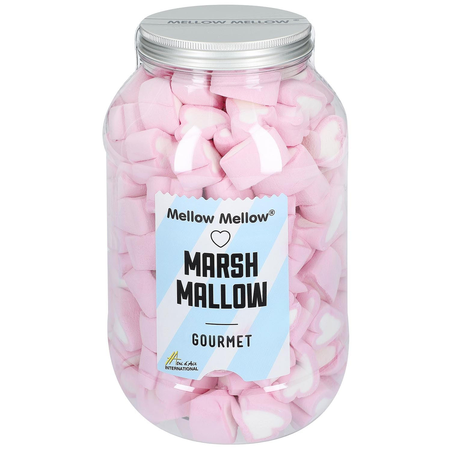 Marshmallow Herzen in Retrodose