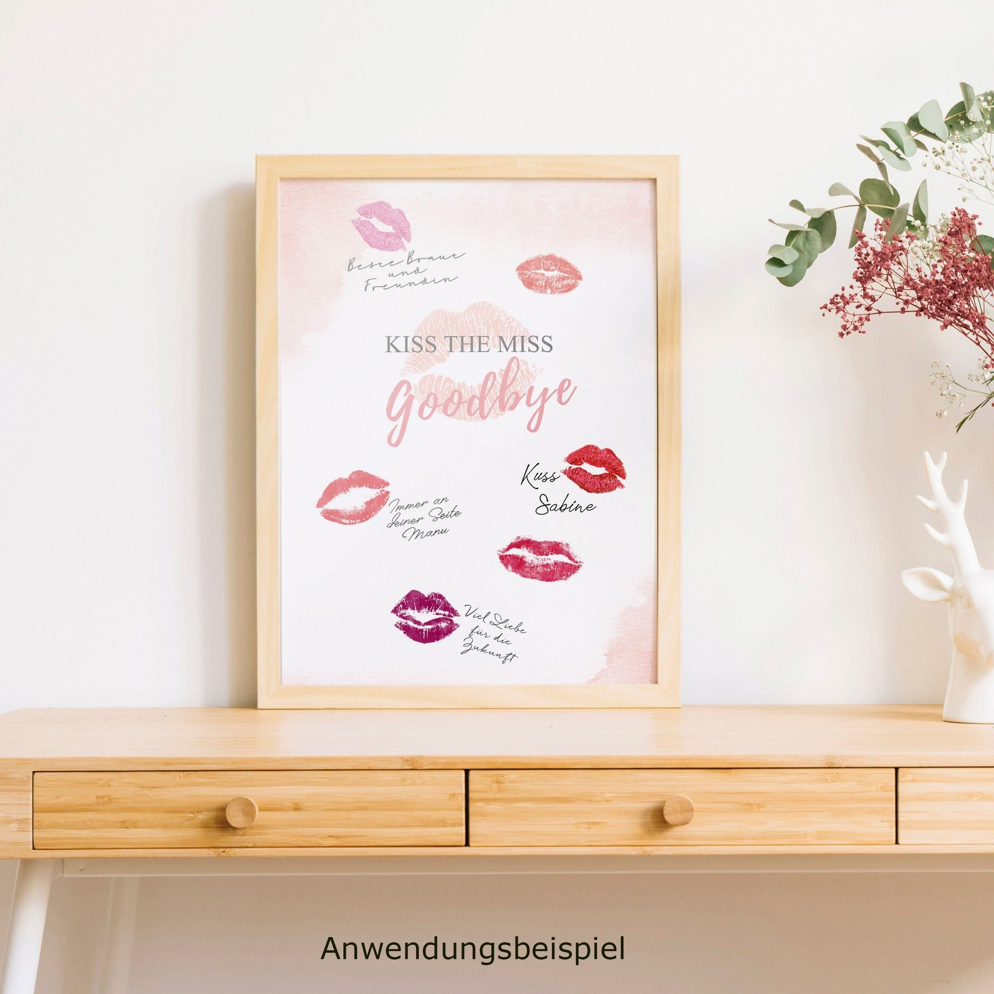 "Poster ""Kiss the Miss"" - Ja-Hochzeitsshop"