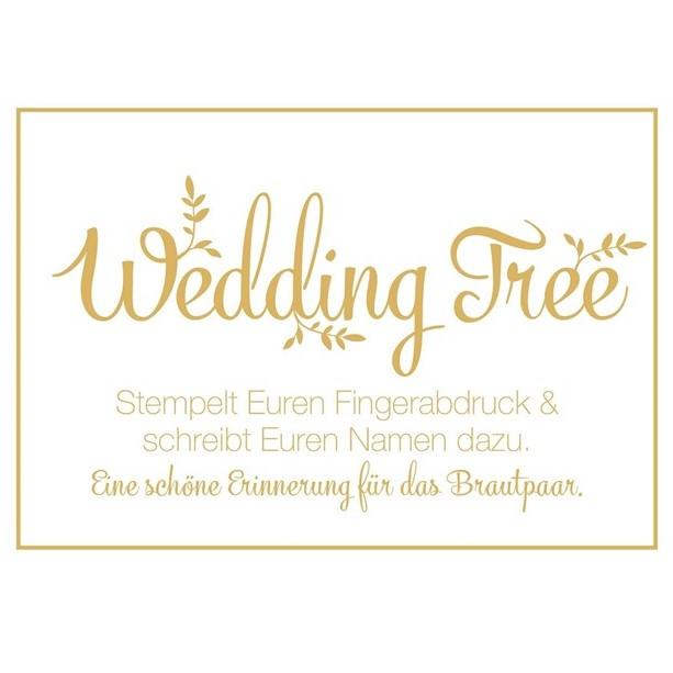 "Schild ""Wedding Tree"""