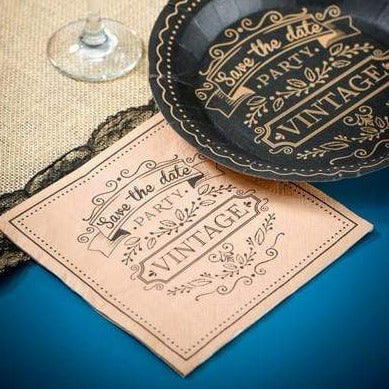 "Serviette Vintage ""Save the Date"" - Ja-Hochzeitsshop"
