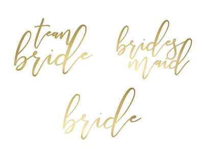 Tattoo Set Team Bride gold - Ja-Hochzeitsshop