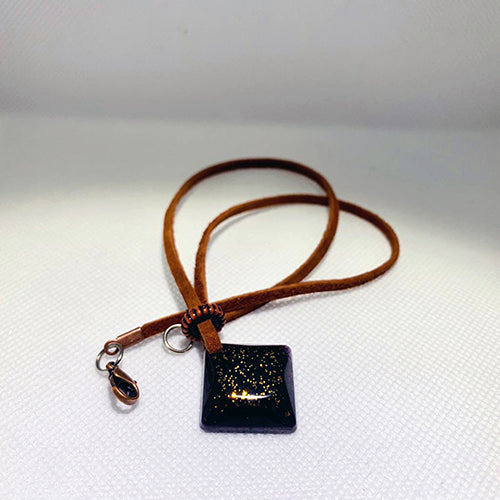 Copper Dust Pendant with chain