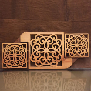 Wooden Art - 'Tryptich' Wall Decor