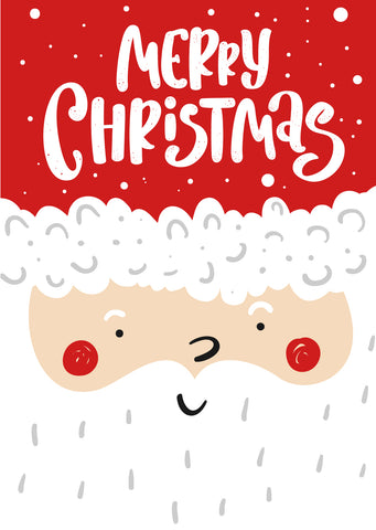 'Merry Santa' Christmas cards, pack of 10