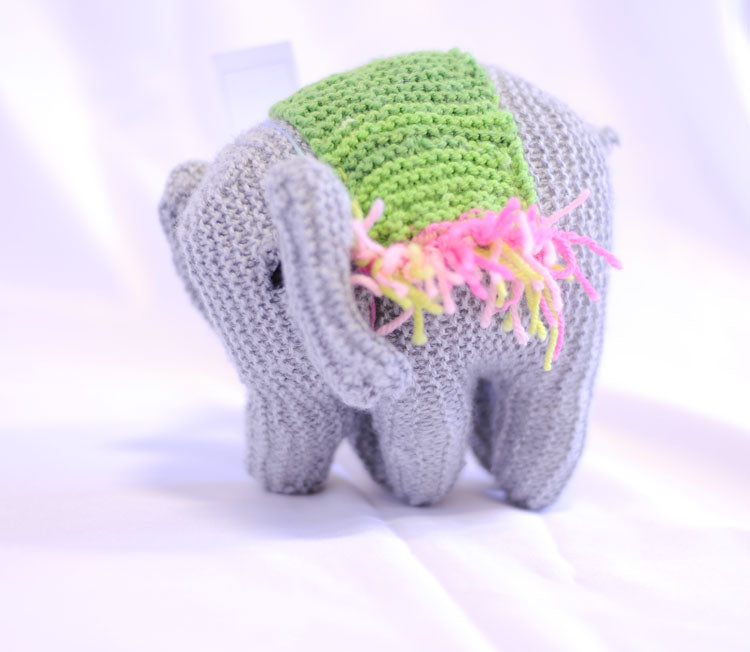 Knitted Elephant - Shoba