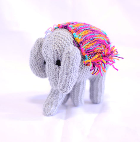 Knitted Elephant - Gordon