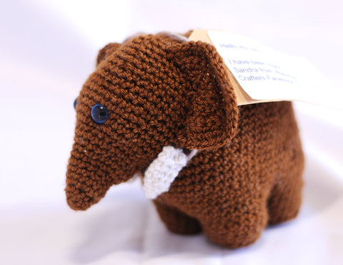 Knitted Elephant - Nero