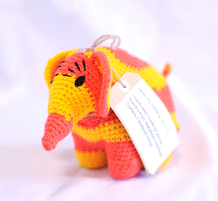Knitted Elephant - Nell