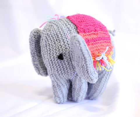 Knitted Elephant - Maureen
