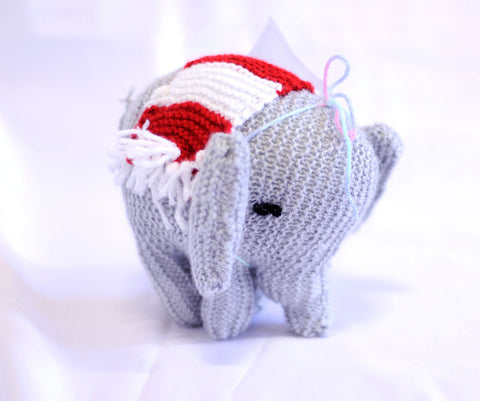 Knitted Elephant - Alfred