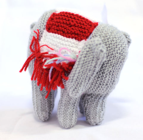 Knitted Elephant - Rose