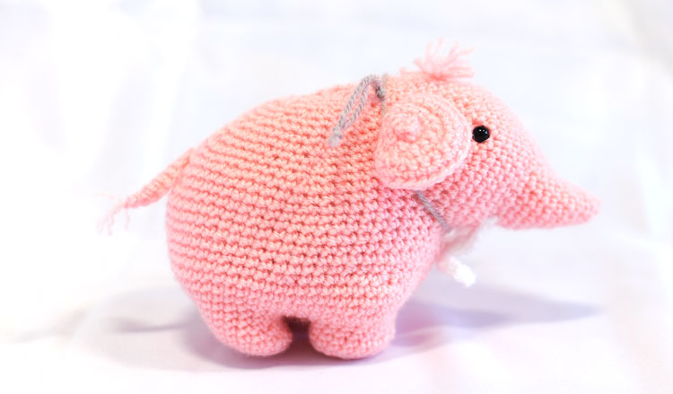 Knitted Elephant - Wilma