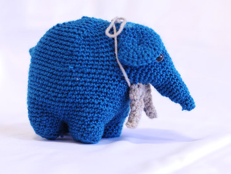Knitted Elephant - Tess