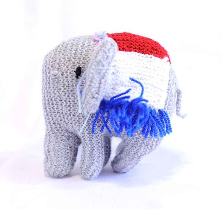 Knitted Elephant - Eidith
