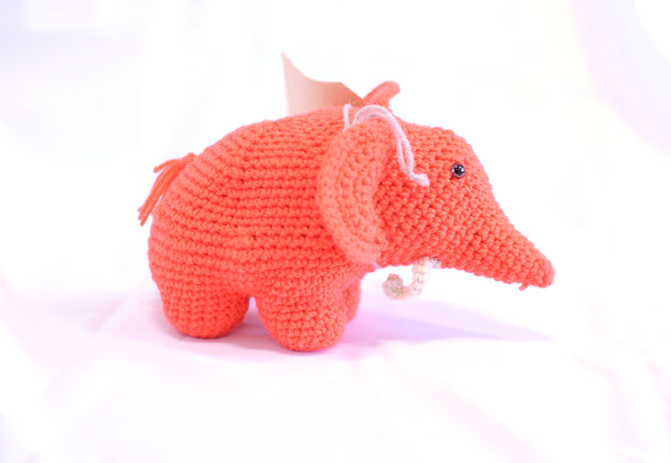 Knitted Elephant - Bruno