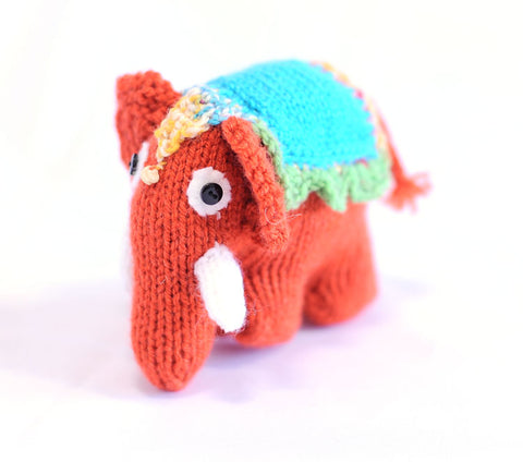 Knitted Elephant - Carmen