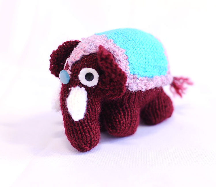 Knitted Elephant - Gina