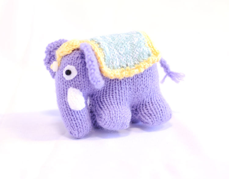 Knitted Elephant - Jessie