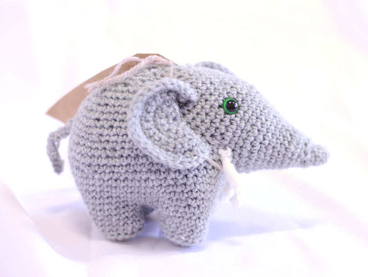 Knitted Elephant - Olly