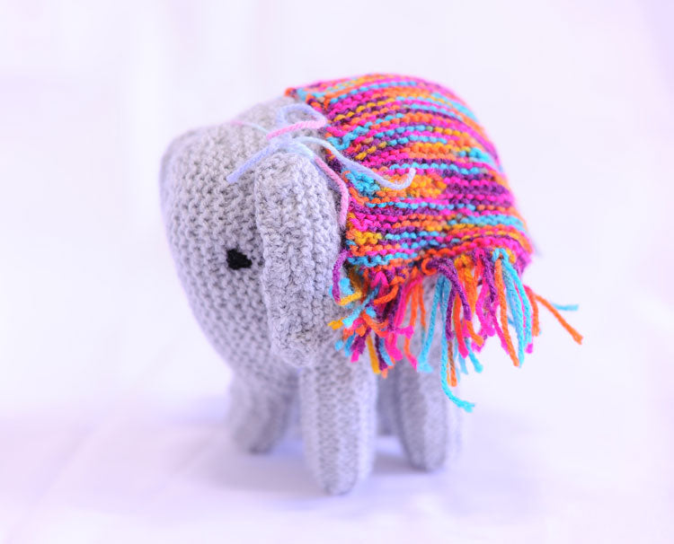 Knitted Elephant - Doreen