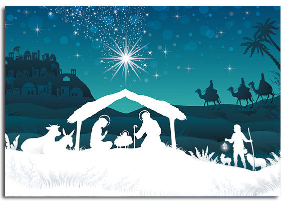 'Nativity' pack of 10 Christmas cards