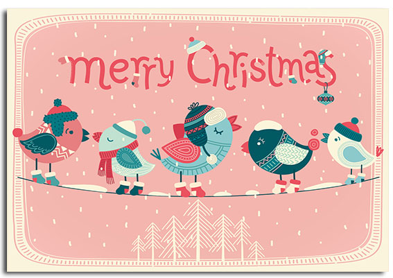 'Singing Robins' pack of 10 Christmas cards to support children with a brain tumour