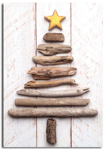 'Driftwood Tree' Christmas cards, pack of 10