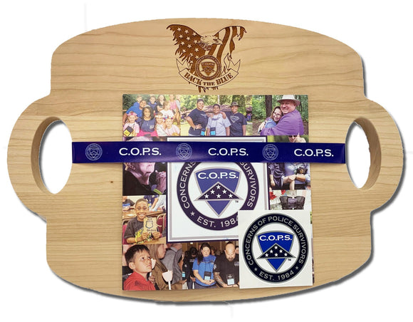 Back the Blue Charcuterie/Cutting Board - Handcrafted and Designed to Support C.O.P.S
