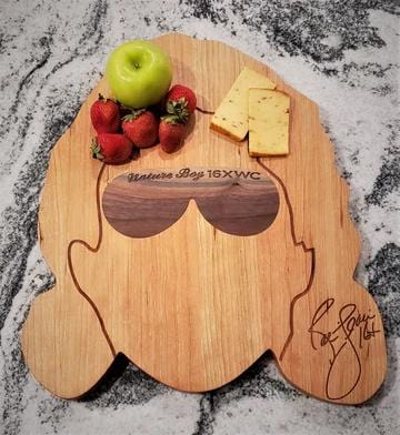 Ric Flair Signature Charcuterie/Cutting/Serving Board, Handcrafted with Cherry and Walnut Woods